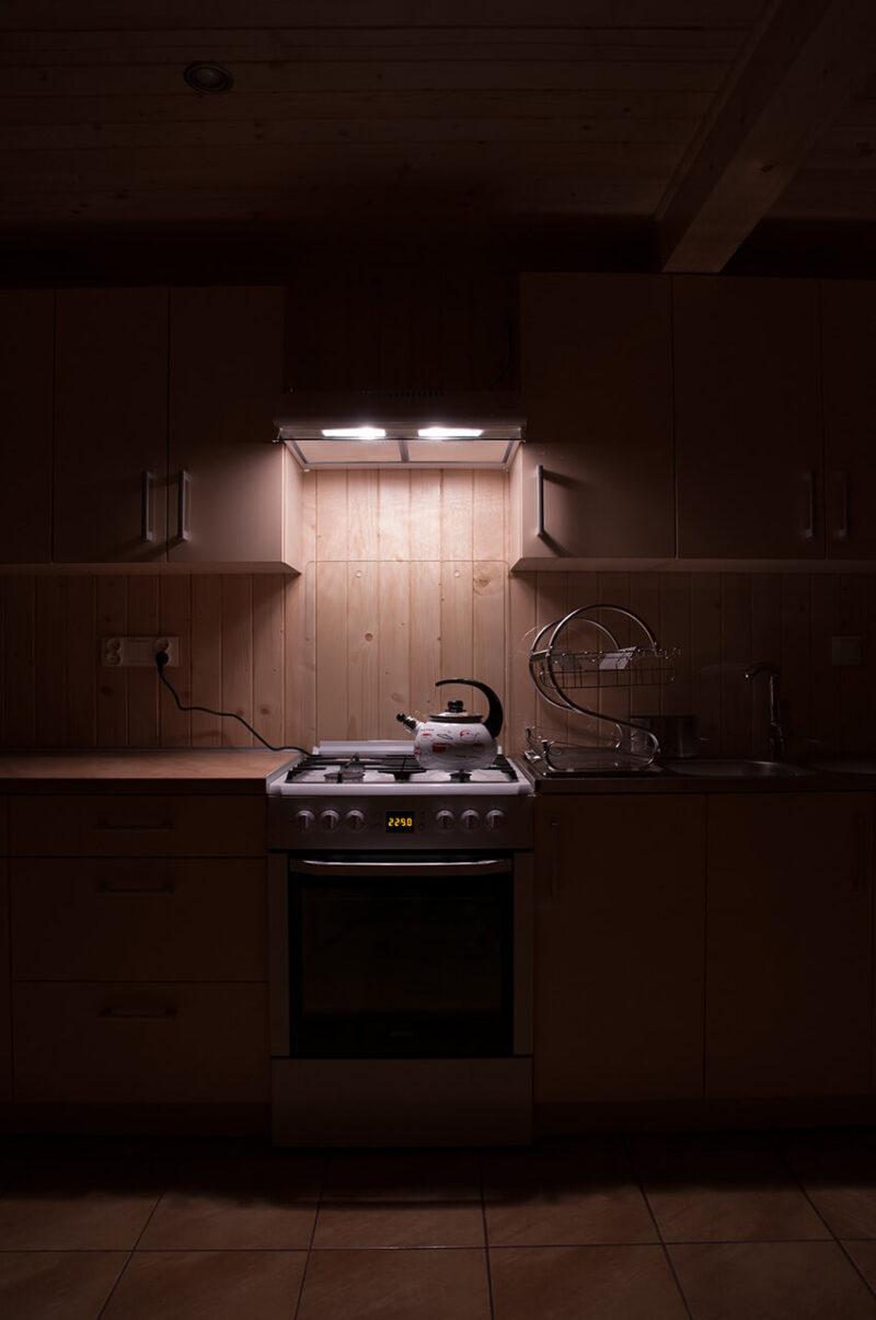 まるで海外の一軒家・マンションに備え付けられているような、おしゃれなキッチンのガステーブル