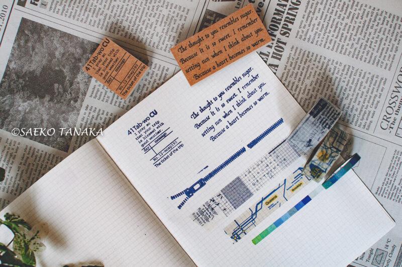 コラージュ・カスタマイズ・イラスト描きに最適な、ほぼ日手帳カズン・マスキングテープ・スタンプ