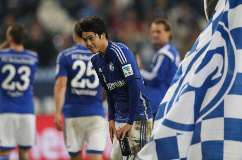 試合後のシャルケ・内田篤人