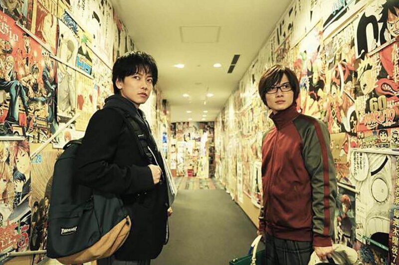 映画「バクマン。」の佐藤健と神木隆之介