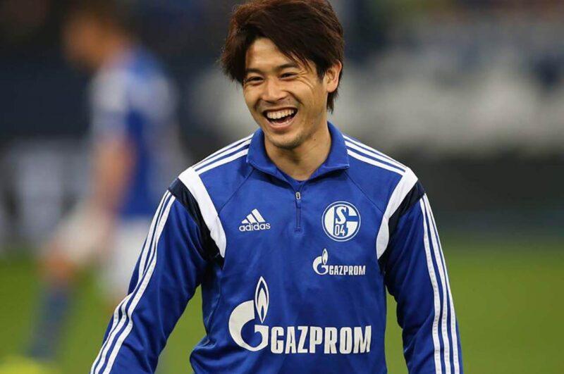 試合前のシャルケ・内田篤人