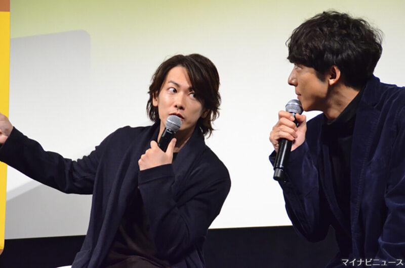 映画「億男」公開記念イベントでの佐藤健と高橋一生