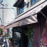 桜満開の代官山のカフェ