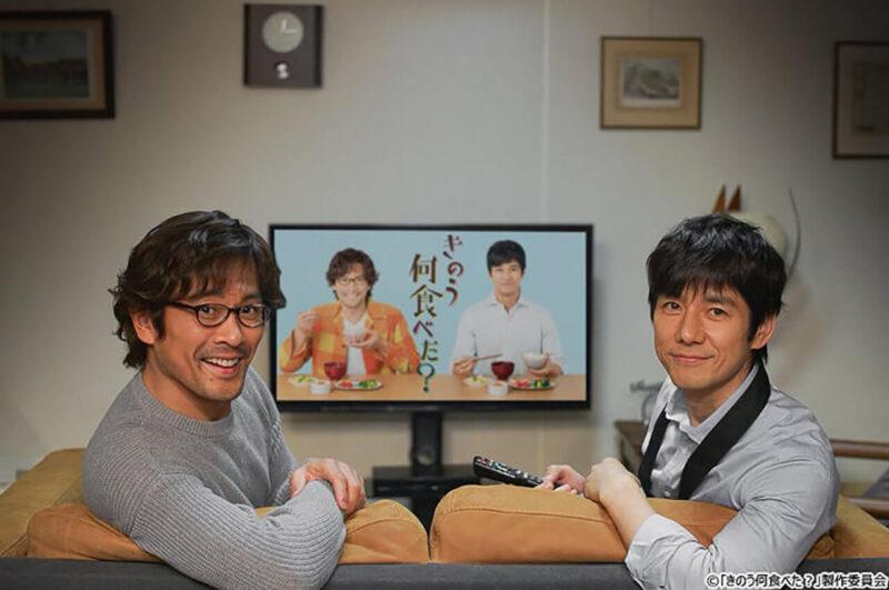 テレビ東京ドラマ「きのう何食べた?」の西島秀俊・内野聖陽