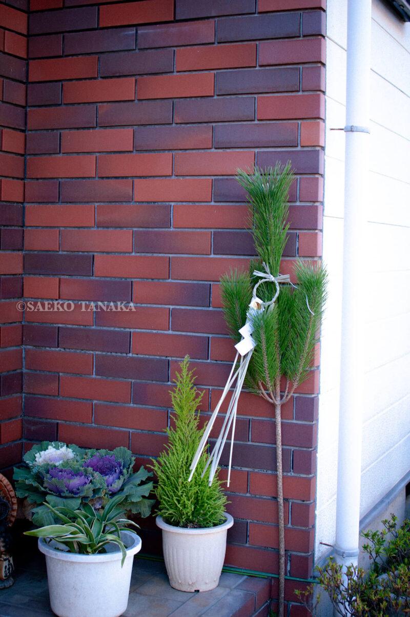 東京の我が家の門松
