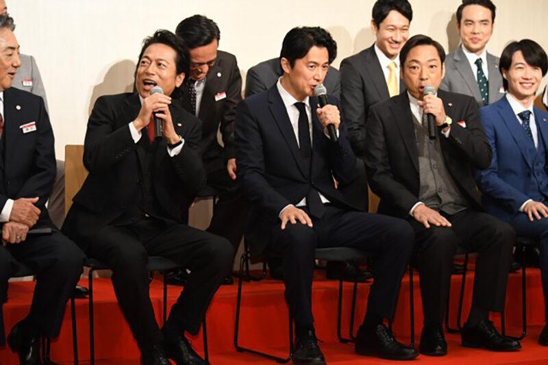 TBS系列ドラマ「集団左遷!!」片岡洋役の福山雅治・真山徹役の香川照之