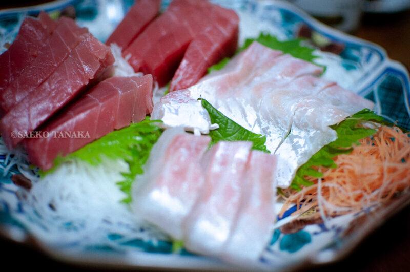 関東・東京の我が家のお正月料理・お刺身盛り合わせ