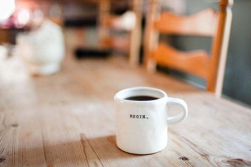 リビングでのコーヒーブレイク