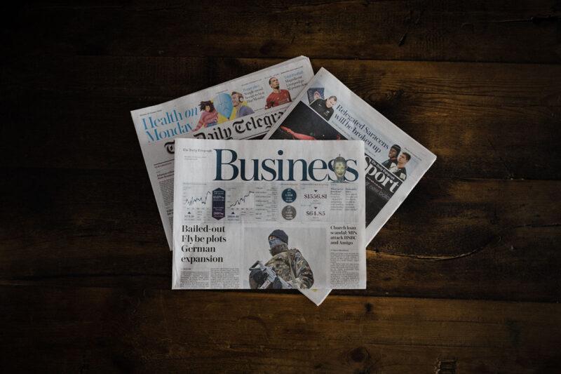 世界情勢や事件・事故が報じられている海外各国のニュースペーパー(新聞)