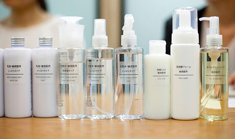 毛穴詰まり・毛穴開き・黒ずみ・角栓・たるみ毛穴・シミ・そばかす・くすみ・ハリ不足・シワ・乾燥を改善する、毛穴レスの美肌に効果的な洗顔方法に適した洗顔料・無印良品の洗顔ミルク 敏感肌用とスキンケアラインナップ