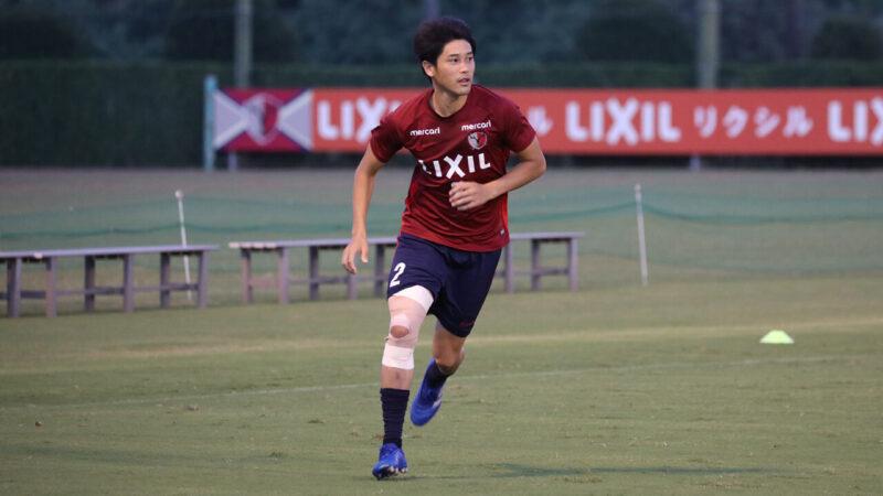 所属クラブチームの鹿島アントラーズでの練習に参加する右サイドバック・DFの内田篤人