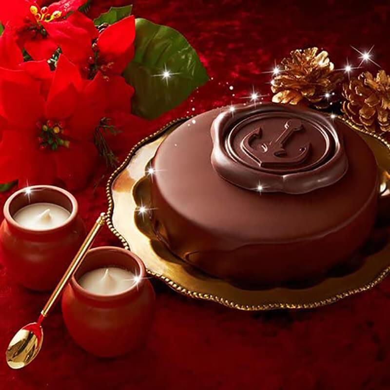 おうちクリスマスを楽しむために便利なAmazonで購入した、口コミ・レビュー人気が高い『神戸フランツ』のおしゃれでお得で美味しいクリスマスケーキ『神戸魔法の生チョコザッハと壷プリンのセット』