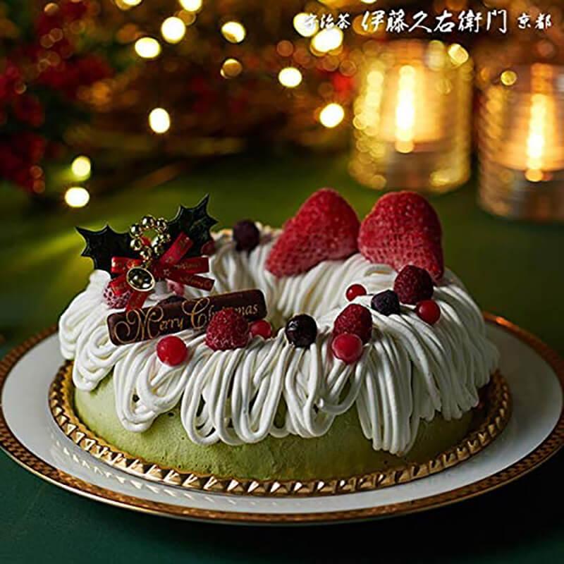 おうちクリスマスを楽しむために便利なAmazonで購入した、口コミ・レビュー人気が高い『伊藤久右衛門』のおしゃれでお得で美味しいクリスマスケーキ『クリスマスケーキ 宇治抹茶アイスケーキ』