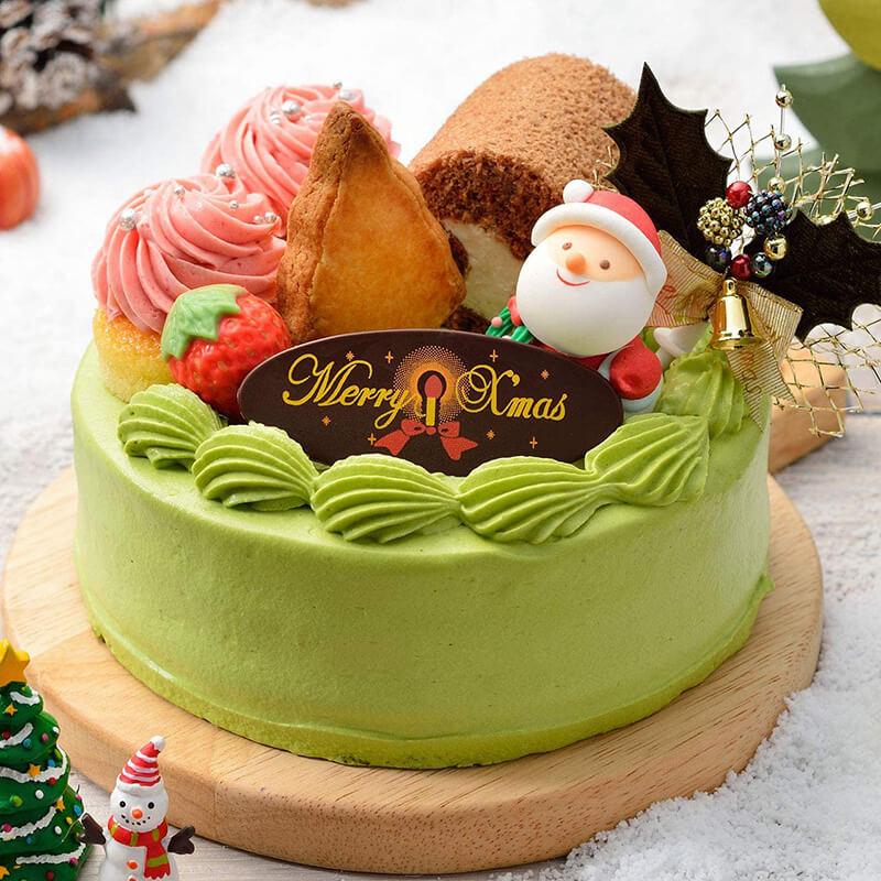 おうちクリスマスを楽しむために便利なAmazonで購入した、口コミ・レビュー人気が高い『吉祥菓寮』のおしゃれでお得で美味しいクリスマスケーキ『宇治抹茶ショコラケーキ』